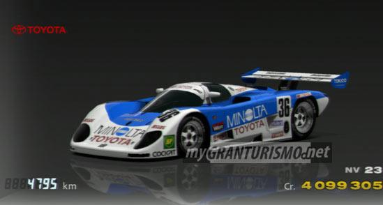 Toyota Minolta Toyota 88c V Race Car 89 Gran Turismo 5