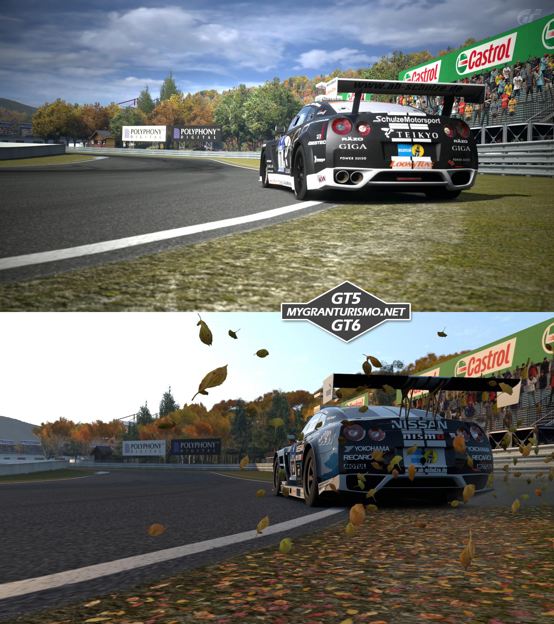 Exclusive Gran Turismo 5 Vs 6 Shots